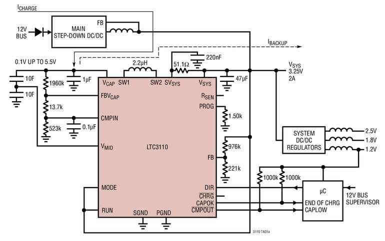 chargeur de supercondensateur abaisseur l vateur 2a pr sentant un fonctionnement. Black Bedroom Furniture Sets. Home Design Ideas