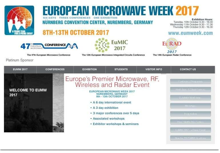 Analog Devices présentera ses solutions lors du salon Microwave Week 2017 !