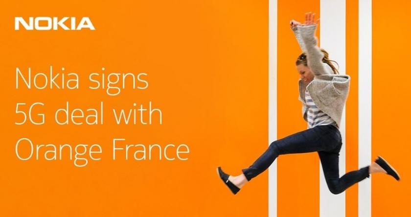 Nokia signe un accord 5G avec Orange France